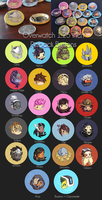 Overwatch Chibi Hero Pinback Buttons by Left2Fail