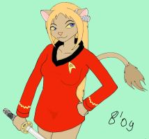 M'rava in Starfleet uniform by ivcf