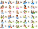 Desktop People Icons by Ikonod