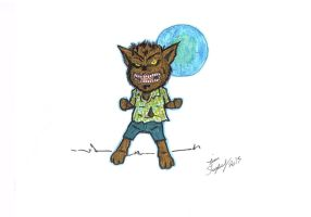 Mini Monsters 011 - Wolfman by Shapshizzle