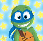 TMNT 2012 - Leo Practice Painting by twinscover
