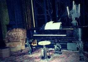 Disney Haunted Mansion Piano by annlo13