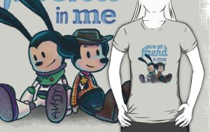 Oswald And Mickey Toy Story Shirt by swarlock64