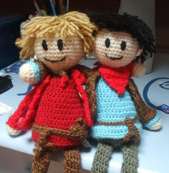 Merlin and Arthur doll by Asnanne