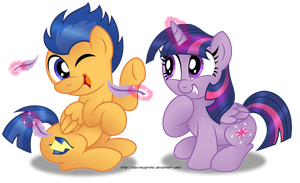Commission:  You ticklish, Flashy? by AleximusPrime