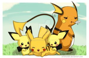 Pikachu Pile Up by sorahanaki