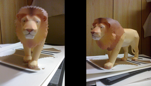 Papercraft: Lion by Tsunaide
