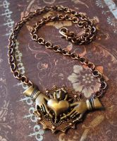 Steampunk Claddagh Necklace by JLHilton