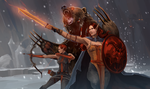 Red Petra, Fire marka and druid by Swenom