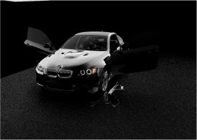My black Bmw car by artsoni