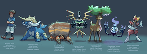 Pokemon White 2 team by Bummerdude