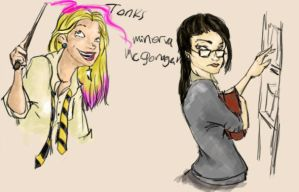 Hogwarts tonks and minerva by MioneBookworm
