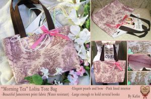 'Morning Tea' Lolita Tote Bag by Kafae-Latte