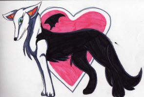 rouge as a wolf by RACHLOVEDRAW
