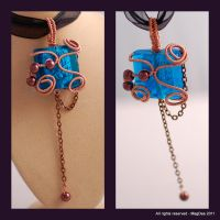 Tile pendant with pendulum by Mag-Dee