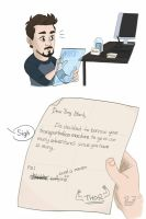Dear Tony Stark by pencilHeadno7