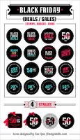 Black Friday Deals Badges and Icons by Designbolts