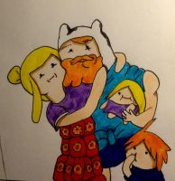 Fin and His Pillow Family by DarkMatterFreak