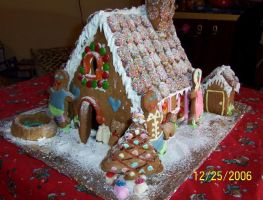 Gingerbread House 06 by reddsetgogirl