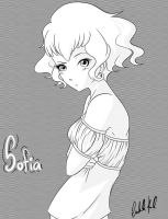 Sofia - Screentone Practice by banANNU