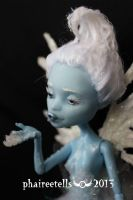 Monster High Abbey Frost Fairy repaint portrait by phairee004
