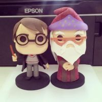 Harry Potter e Dumbledore by santanaeliel