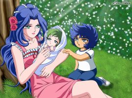 La mama de Ikki y Shun 2~Saint Seiya Fan Arts by LoveShun01