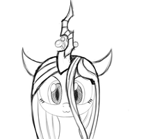 Chrysalis meow (sketch) by HeavyMetalBronyYeah