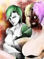 Joker and Two Face by s-azma