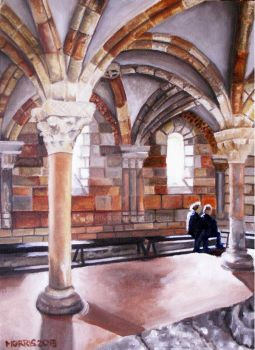 Pontaut Chapter House at the Cloisters, New York by Moni3