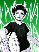 Homestuck- Kanaya the Chainsaw Queen by mingming07