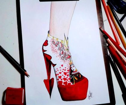 Red Queen Shoes by AlvesJoao