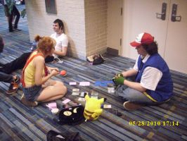Ash and Misty playing Pokemon by confuzed-anime-fan