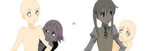 .:OC and Maka or Crona Base:. by De-Chi-Tai-Bases