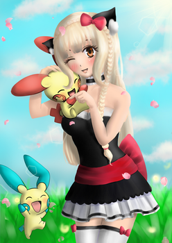 [Contest Entry] Mila loves Pokemon! by SweetyBat