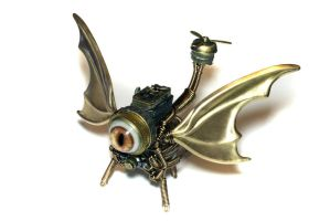 Steampunk Dragon Drone by CatherinetteRings by CatherinetteRings