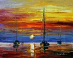 New sunset by Leonid Afremov by Leonidafremov