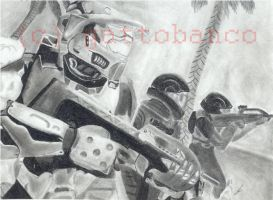 master chief and ODSTs by gattobanco