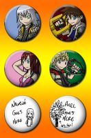 Kingdom Hearts Button Design by JimmyRay