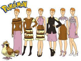 Pokemon fashion: Pidgey by Willemijn1991