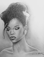 Rihanna Where Have You Been sketch by MissRoxyMFC