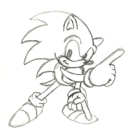 classic sonic Commission sketch by megax88