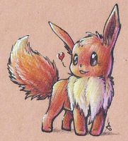 #133: Eevee by RashanaMoonfire