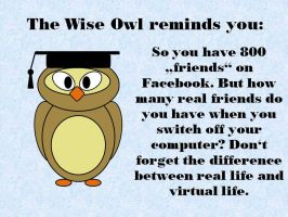 The Wise Owl reminds you by Nightwish91