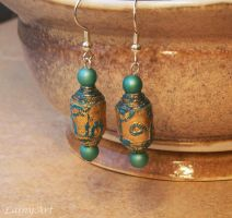 Boho Inspired Paper Bead Earrings by secrets-of-the-pen