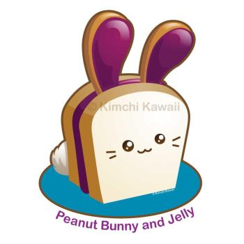 Cute Peanut Bunny and Jelly Rabbit by kimchikawaii