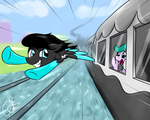 Flying by Passengers by mlpLazuli by LR-Studios