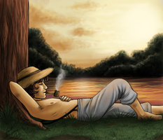 Huck Finn by Lord-Aragoon