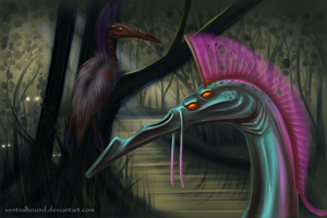 Swamp Bird by VentralHound