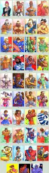 Sketchcard Street Fighter 4 Collection by fedde